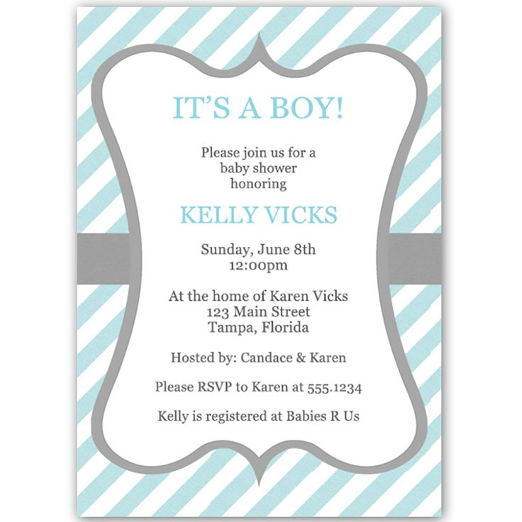 36 best Boy Baby Shower Invitations images on Pinterest Blue and - baby shower invitation