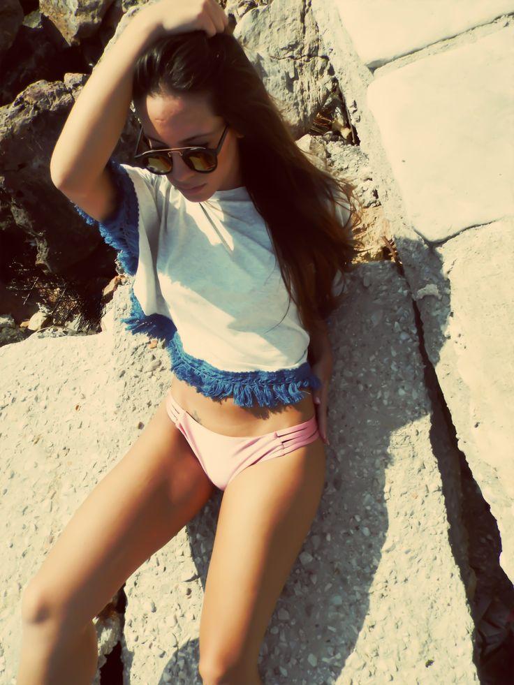 Nadie top - Strap dusty pink bikini