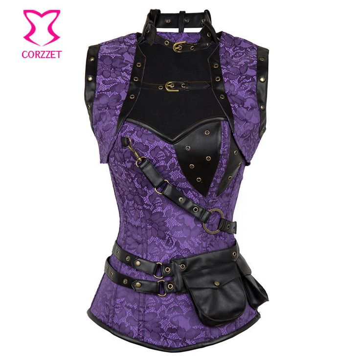 Latex Gothic Clothing Sexy Brown Steel Bone Corset Steampunk Waist slimming Corsets And BustiersTop Women Corpetes E Espartilhos