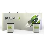 Magnetix 20Ft. Serpentine Pop Up Display - Full Graphic Mural - Thumbnail