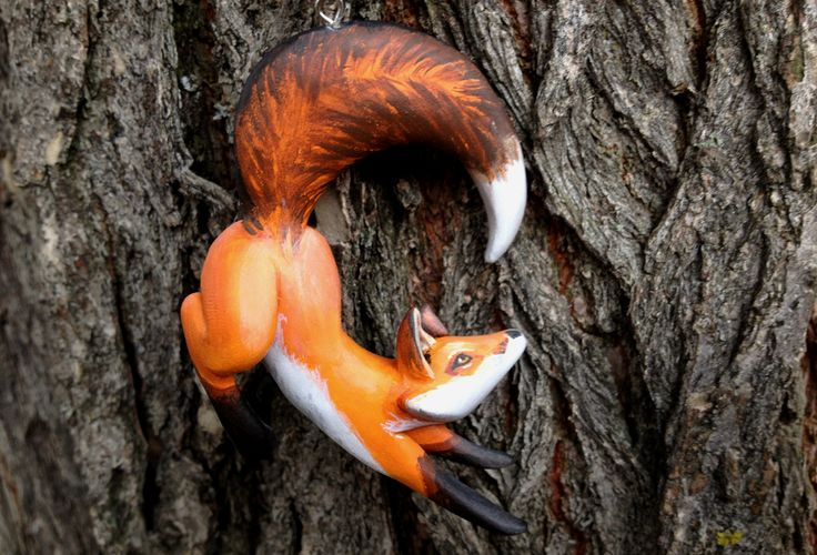 Leaping Fox Pendant by Gatobob.deviantart.com on @DeviantArt