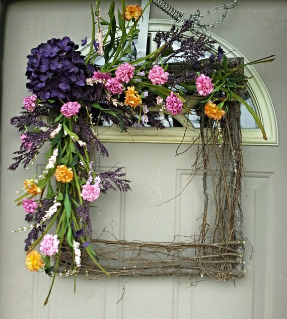 Wild Summer .... square wreath Gorgeous for year round by bndd, $74.00
