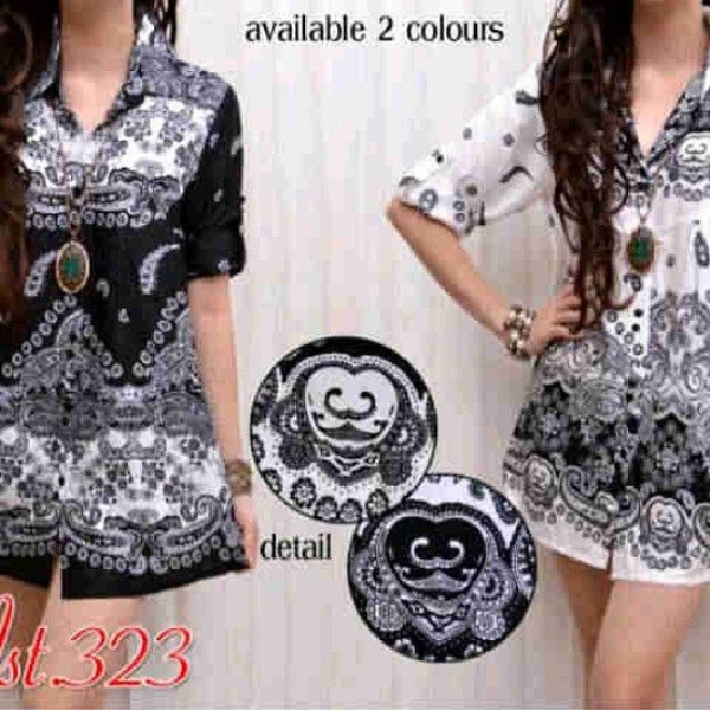 babydoll batik black n white 63rb