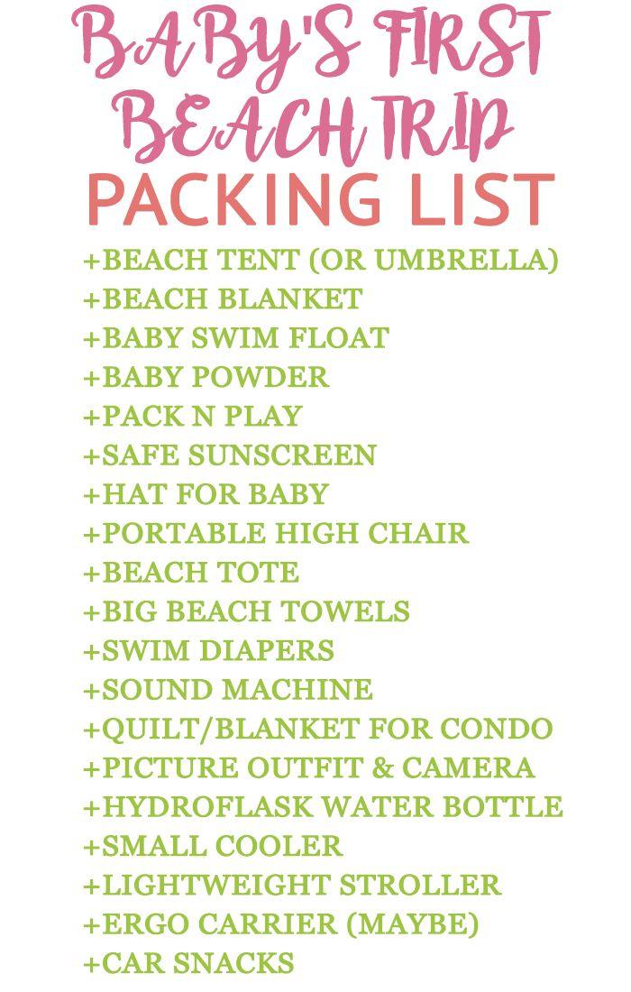 beach trip, beach packing, beach trip for baby, baby at the beach, baby beach trip, packing list