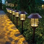 "HGTV Home 23.3""H Die-Cast Stainless Steel Solar Pathway Light Set 8-Pack"