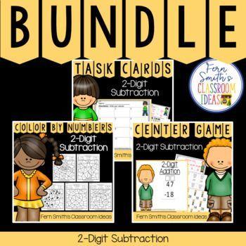 2nd Grade Go Math 55 2 Digit Subtraction Bundle Secondgradesquad