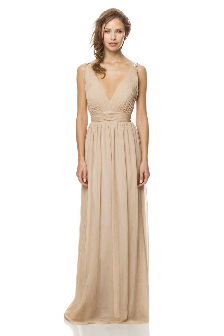 60 best bridesmaids dresses images on pinterest bridesmaids layers of crinkle chiffon drape the a line silhouette of bari jay 1452 bridesmaid dress supported with appliqued shoulder straps framing the plunging back ombrellifo Images