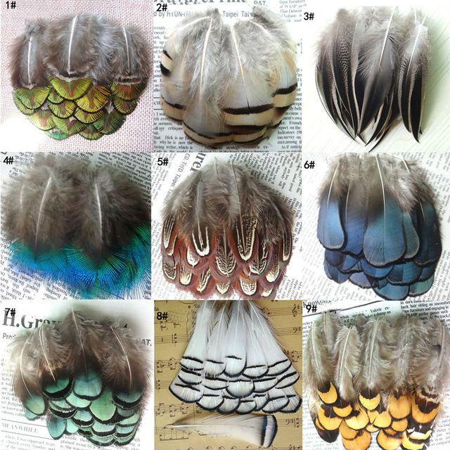 50 stks 24 kleuren natuurlijke kleur en geverfd veren, DIY sieraden accessoires Kleurrijke Bruiloft Decoraties Party Kleding Veren