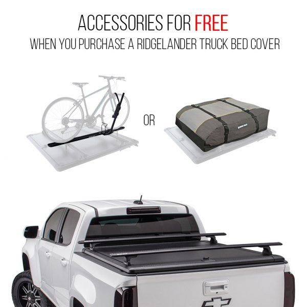 Image may not reflect your exact vehicle! UnderCover® - Ridgelander™ Hinged Tonneau Cover with Rack