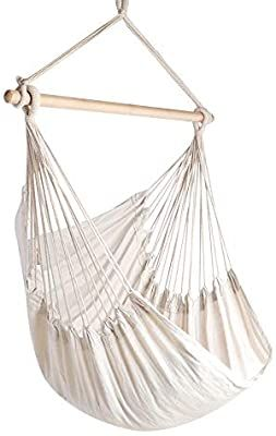 Best Amazon Com Chihee Hammock Chair Large Hammock Chair Relax Hanging Swing Chair Cotton Weave F 640 x 480