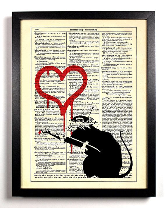 25 best ideas about heart graffiti on pinterest broken for Banksy rat mural