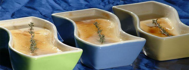 Crème brulée cu cimbru