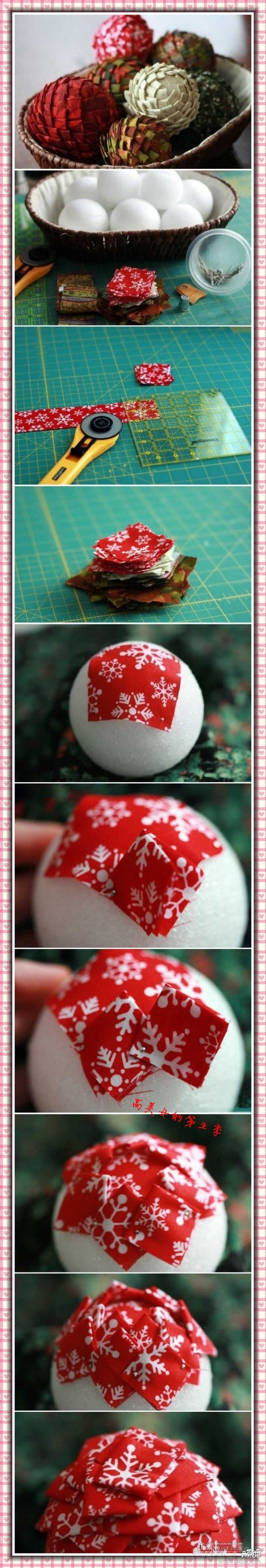 Fabric or paper covered polystyrene balls/ovals etc