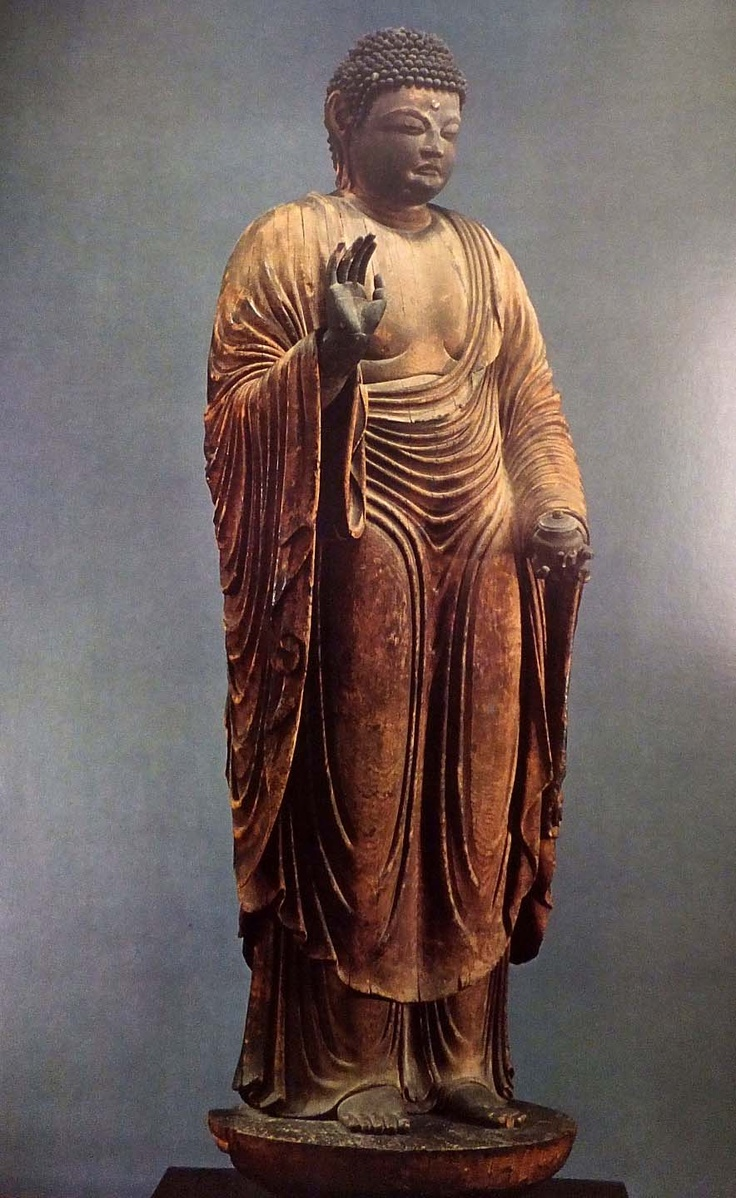 Japanese National Treasure, Gango-ji Temple, wooden standing statue of Yakushi Nyorai 薬師如来立像(元興寺)