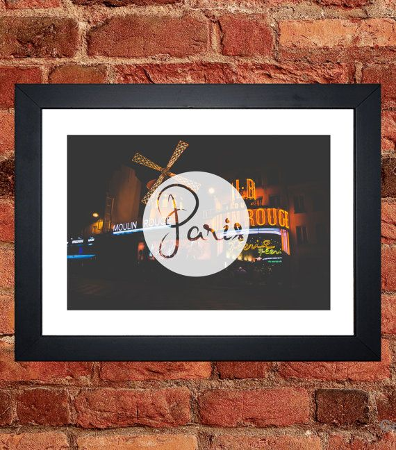 The Moulin Rouge Print - Digital download.