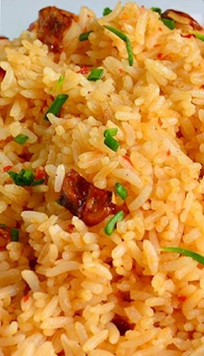 Garlic Fried Rice-I paired this with Adobo chicken for a Filipino dinner. Very very good. I didn't have red chili paste so I subbed in rooster sauce. Spicy, but it was so delicious paired with the chicken.