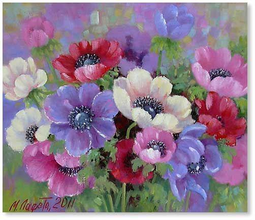 painting anemoon - Google zoeken