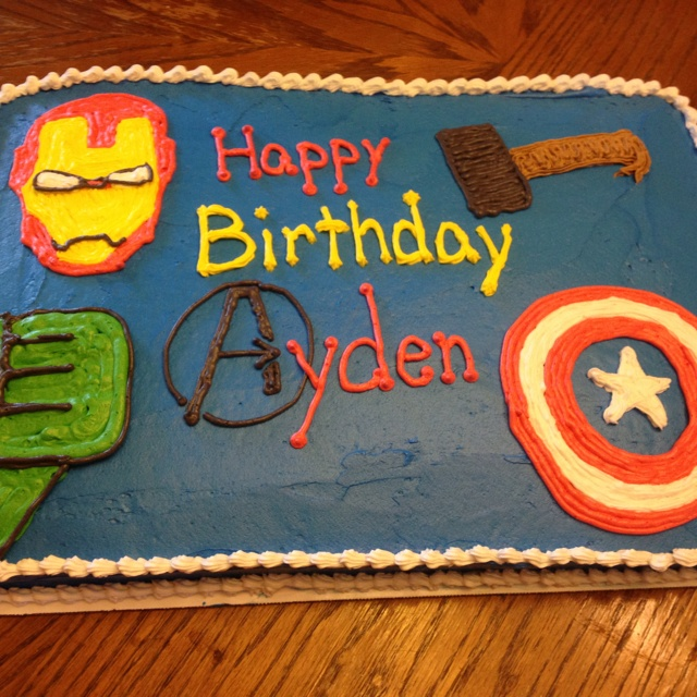 An Avengers birthday cake :)