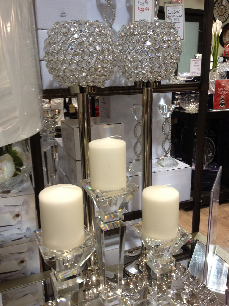 Beautiful Crystal Candle Holders From The New Bowring