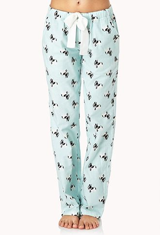 French Bulldog Frenzy PJ Pants | FOREVER21 - Also available in sleep shorts