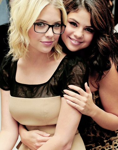Selena Gomez and her friend Spring Breakers cast-mate Ashley Benson