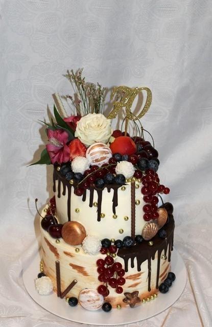 Drip cake na 70-ku   Autorka: amerika   Tortyodmamy.sk