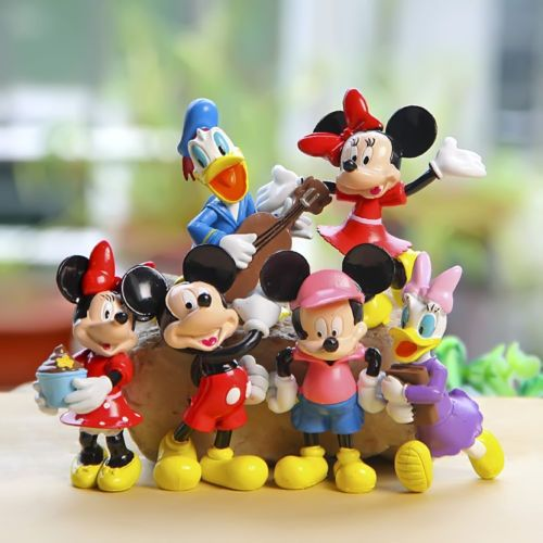 6pcs Mickey Mouse Figures Minnie Donald Cake Topper Clubhouse Disney Playset #Unbranded