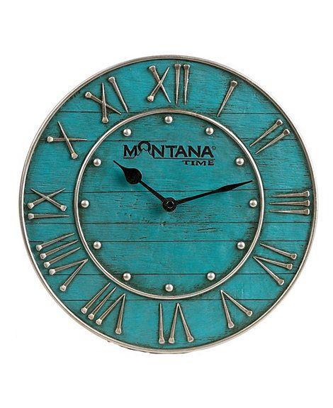 Montana Silversmiths Horseshoe Nail Wall Clock