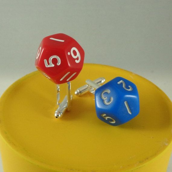 Dice cuff links D12 12 sided dice cuff links Geeky game