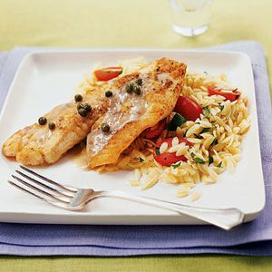 This piccata recipe calls for tilapia, but you can also substitute most any flaky white fish, or use veal or chicken cutlets. For more quick and easy fish dinners, see our complete collection of fish recipes.