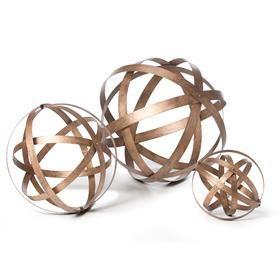 Metal Garden Spheres - Set of 3