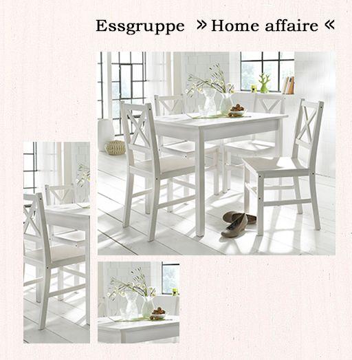 Esszimmermöbel im klassischen weißen Landhaus-Stil.