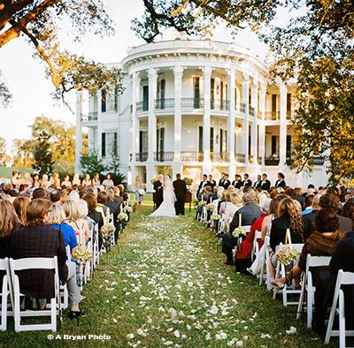 Romantic Southern Plantation Weddings at gorgeous Nottoway