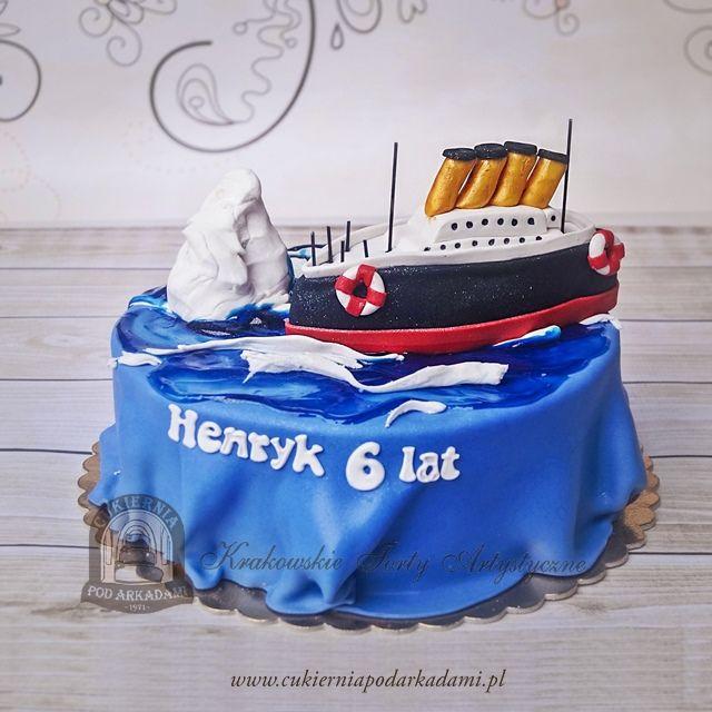 96BA. Titanic i góra lodowa.🚢 Titanic and iceberg cake.