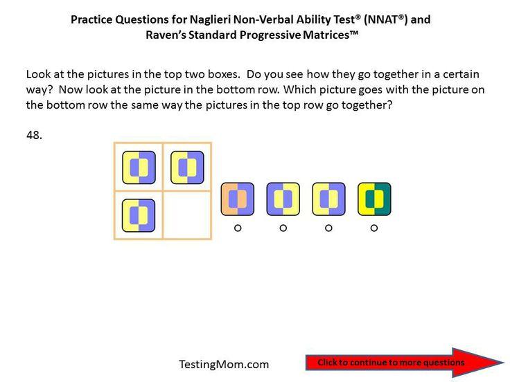 cogat practice test kindergarten pdf
