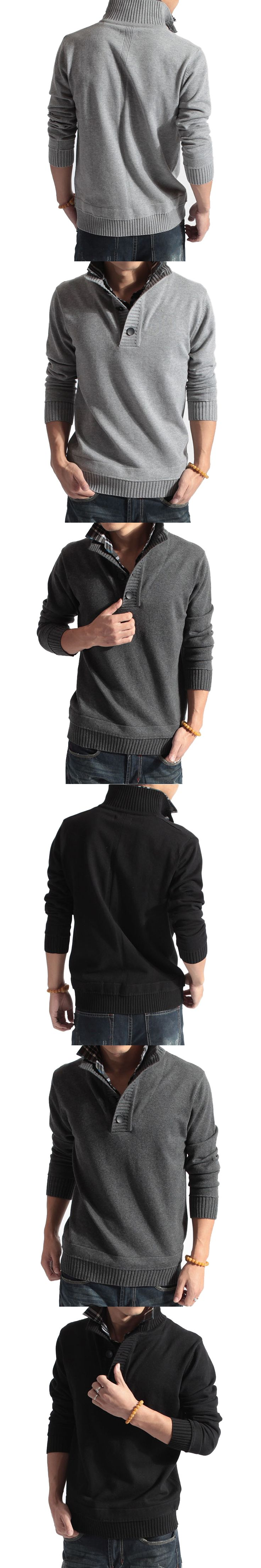 2017 Winter Sweater Casual Slim Fit Pullover Men Balck Gray V Neck Pull Homme Sweaters Top Quality Cashmere Sweater Men