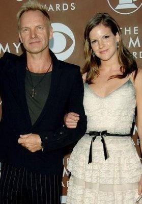 Sting (2010/11) - with his eldest daughter Fuschia Sumner.