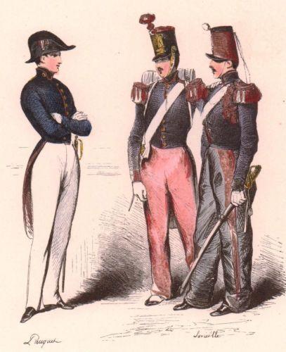 Ecole-Militaire-Saint-Cyr-Polytechnique-Cadre-Noir-Saumur-1842-Coetquidan