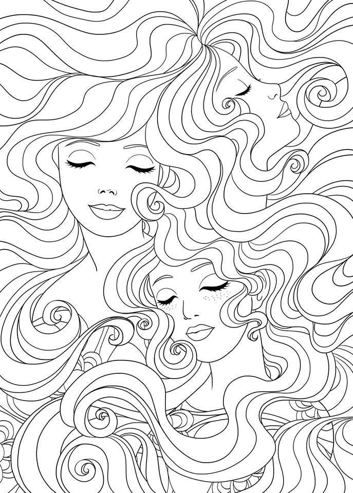 adult coloring pages for women | Best 898 Beautiful Women Coloring Pages for Adults ideas ...