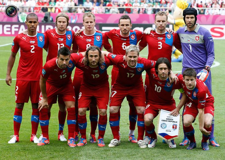 This is the national Czech Republic football team.  They are 28th best in FIFA, which doesn't seem too bad.  The Czech Republic also enjoys ice hockey and volleyball.  At the Rio 2016 Olympics, they received one gold, two silver, and seven bronze.  They aren't too popular for many other sports besides football, ice hockey, and volleyball.