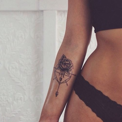 small rose arm tattoo #girly #ink