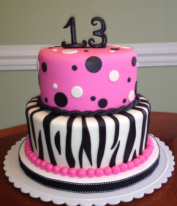 Hot Pink Zebra cake. All fondant.