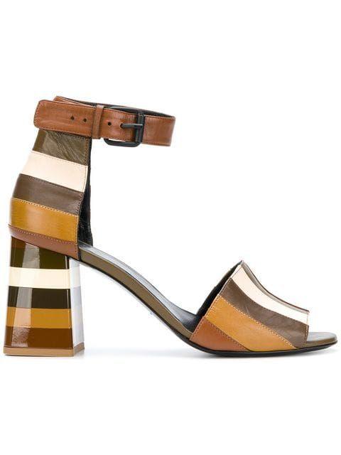 d368b94b4471 Sonia Rykiel Striped Ankle Strap Sandals in 2019