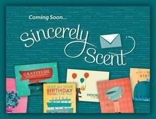 Scentsy will be launching an innovative new product line extension: an online greeting card store featuring over 150 original, customizable, scented greeting cards. You will be able to personalize cards w/photos, messages, digital signature and a scent sample from the Scentsy Favorites collection. There will be Sincerely Scent cards for every occasion. They will be mailed to the recipients w/o buying stamps or going to the Post Office.