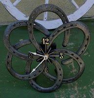 Horseshoe Clock   -   #crafts  #diy