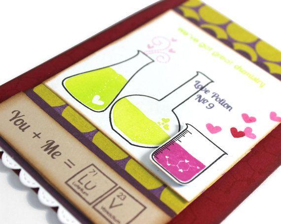 Tarjeta de San Valentín geek tarjetas día de San por CardamomsArt