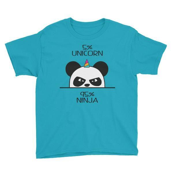 Unicorn Panda Ninja Youth Short Sleeve T-Shirt