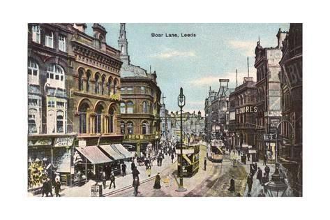 Leeds, Boar Lane 1905 Giclee Print - AllPosters.co.uk