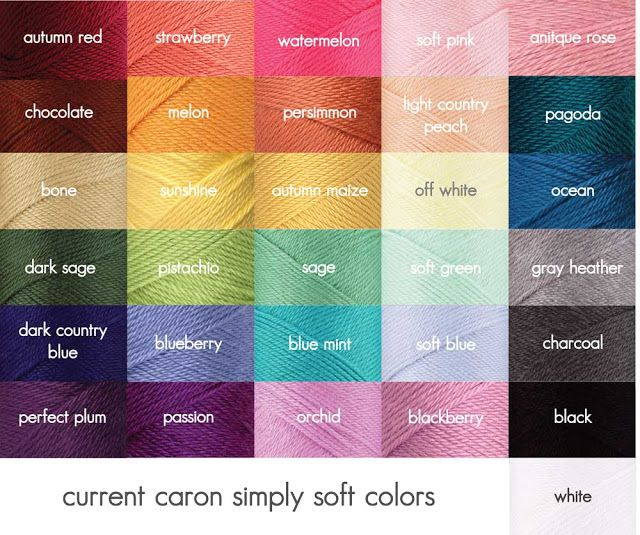 Caron Simply Soft  Sarahndipities ~ fortunate handmade finds: Current YARN Colors