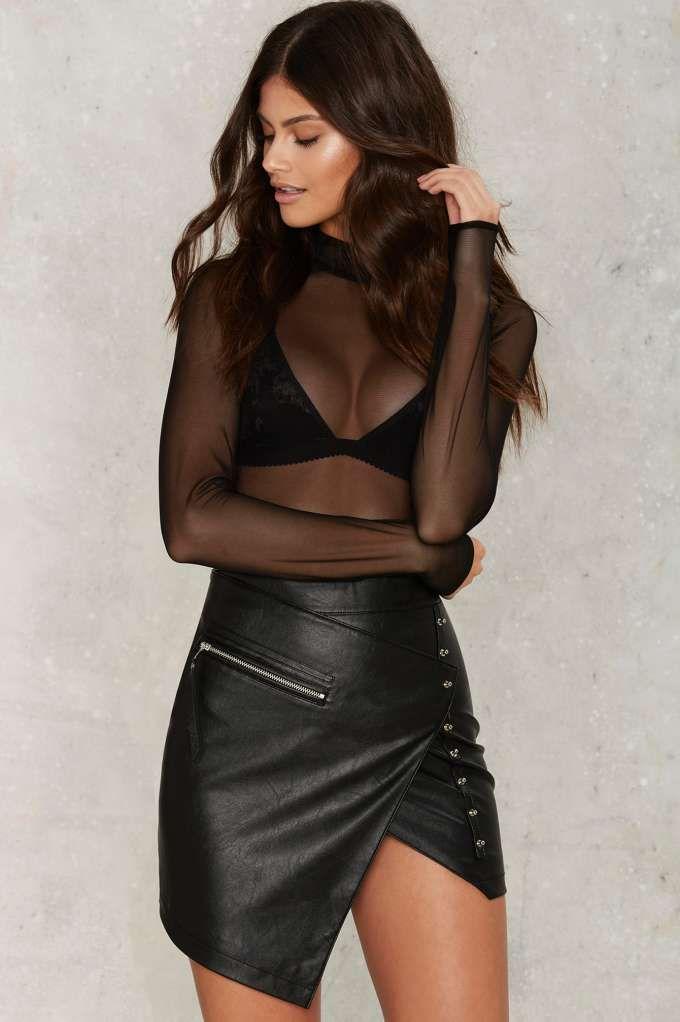 Snap to It Asymmetric Skirt - Nasty Gal